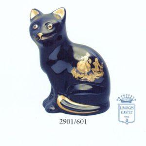 Gato de porcelana Limoges Castel